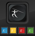 Summer sports Javelin throw icon symbol Set of vector image vector image