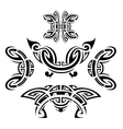 Tattoo style set vector image vector image