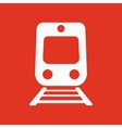 The train icon Railway symbol Flat vector image