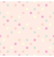 Tile polka dots on pastel pink pattern vector image vector image