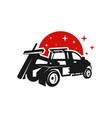 towing car transportation service logo vector image