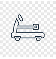treadmill concept linear icon isolated on vector image