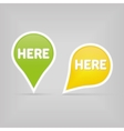 two map signs vector image vector image