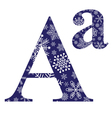 Uppercase and lowercase the first letter A vector image vector image