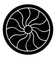 viking shield icon black color flat style image vector image
