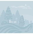 Winter Foggy Landscape vector image vector image