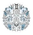 zodiac signes gemini vector image vector image