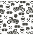 pattern with motorcycle speed - moto seamless vector image