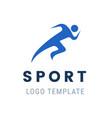 runner logo fast abstract running man vector image
