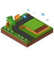 3d design for farmland vector image vector image