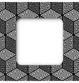 3D Zig Zag Cubes Frame Banner vector image