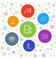 7 earphone icons vector image vector image