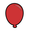 air balloon celebration vector image
