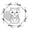 animal drawing style boho icon vector image vector image