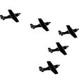 Arrow formation vector image vector image
