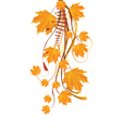 Autumn ornament with maple leaves vector image