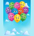 balloons theme image 7 vector image