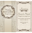 Baroque wedding invitation brown and beige