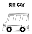 Big car of hand draw vector image vector image