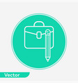 briefcase icon sign symbol vector image vector image