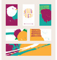 bright set with bright colored business vector image