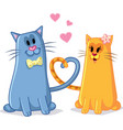 cats in love cartoon vector image