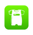 children slider icon green vector image