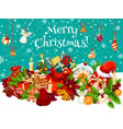 christmas holiday gift card for new year design vector image vector image