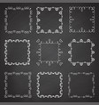 collection ornamental frames hand drawn square vector image