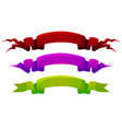 colored cartoon ribbons bright colorful labels vector image