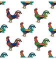 Colorful ornament with roosters vector image vector image