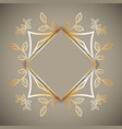 decorative frame background vector image vector image