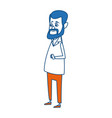 doctor man avatar standing character male icon vector image vector image