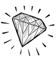 doodle gem diamond luxury vector image vector image