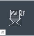 e-mail marketing line icon vector image vector image