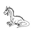 fairy tale dragon animal mystic fantasy vector image vector image
