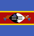 flag of kingdom of eswatini - swaziland official vector image vector image