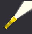 flashlight and light beam vector image