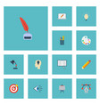 flat icons pencil writing pen and other vector image