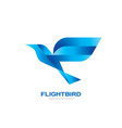 flight bird - concept logo template vector image