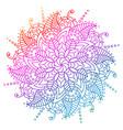 flower mandala decorative elements vector image