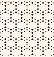 geometric seamless pattern with small diamond vector image vector image