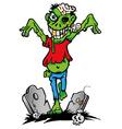 green zombie vector image