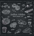 hand drawn set of indian cuisine vector image