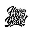 handwriting inscription happy new year vector image