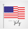 happy 4th of july united state independence day vector image