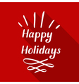 happy holidays small vector image vector image