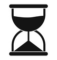 hourglass icon simple style vector image vector image