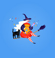 icons befana cute witch and cat for happy vector image vector image