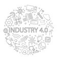 industry 40 background from line icon vector image vector image